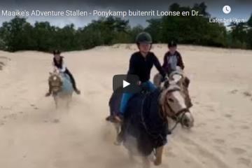 video buitenrit duinen ponykamp